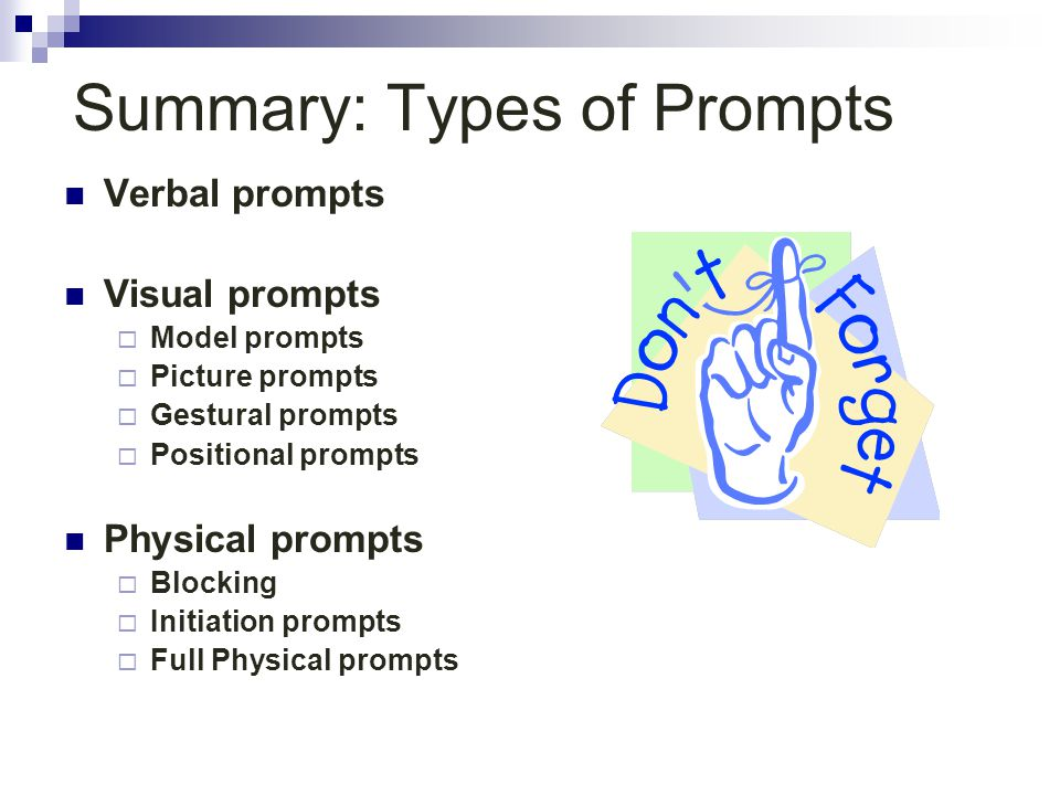 Summary: Types of Prompts