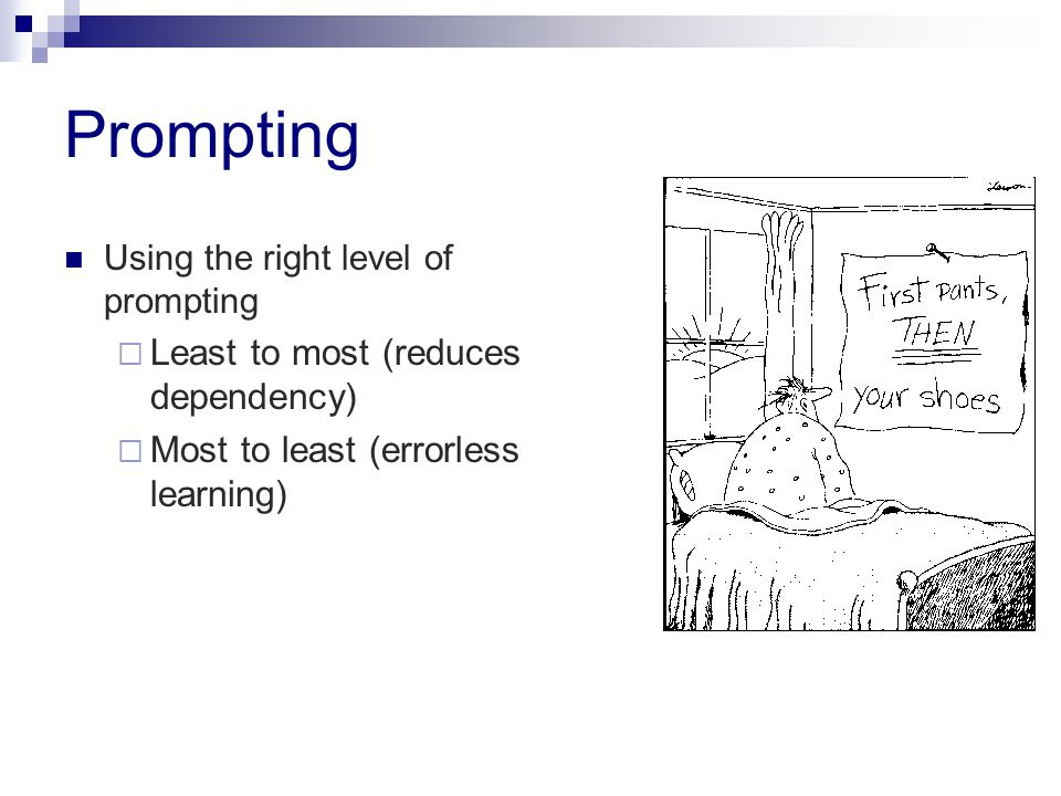 Prompting Least to most (reduces dependency)