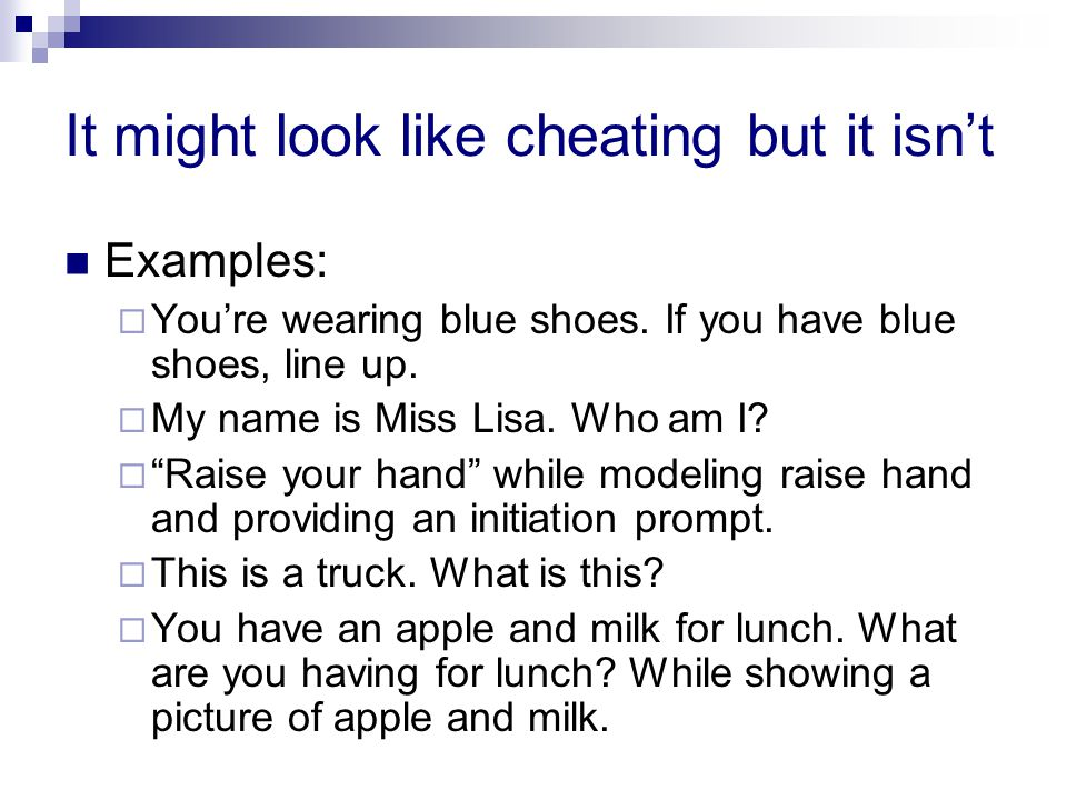 It might look like cheating but it isn't