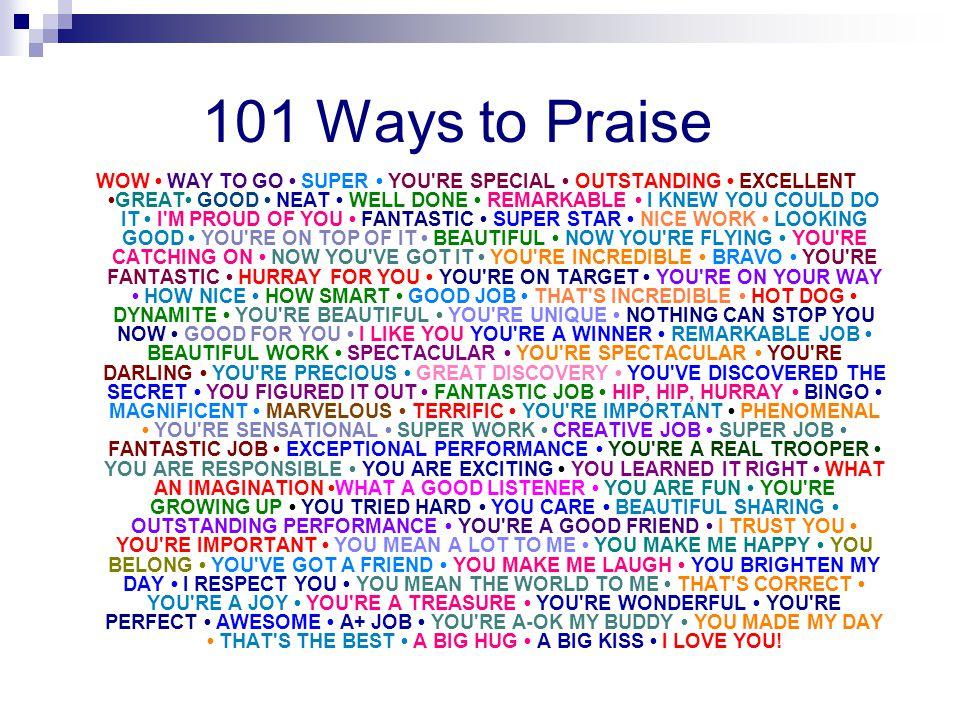 101 Ways to Praise