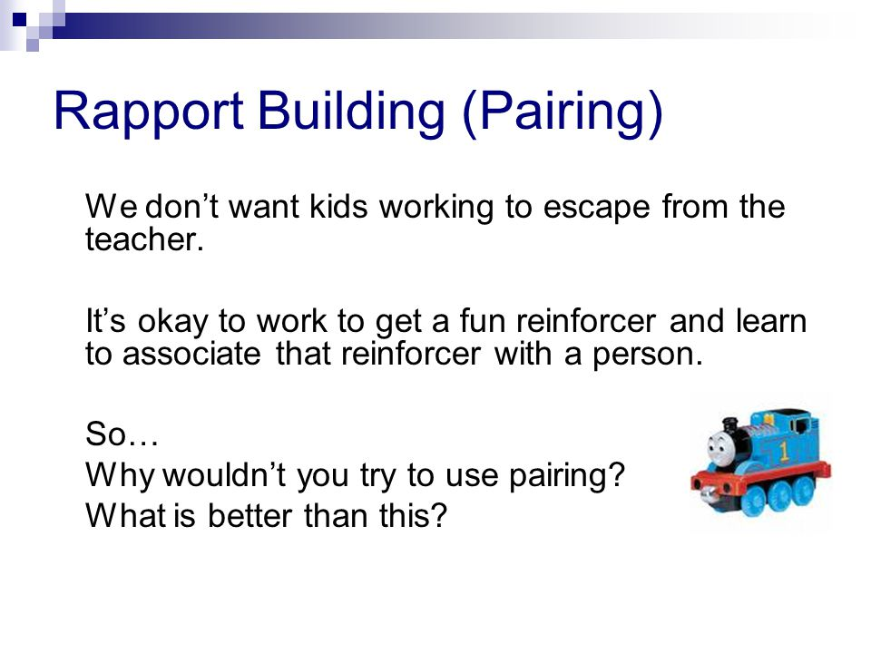 Rapport Building (Pairing)