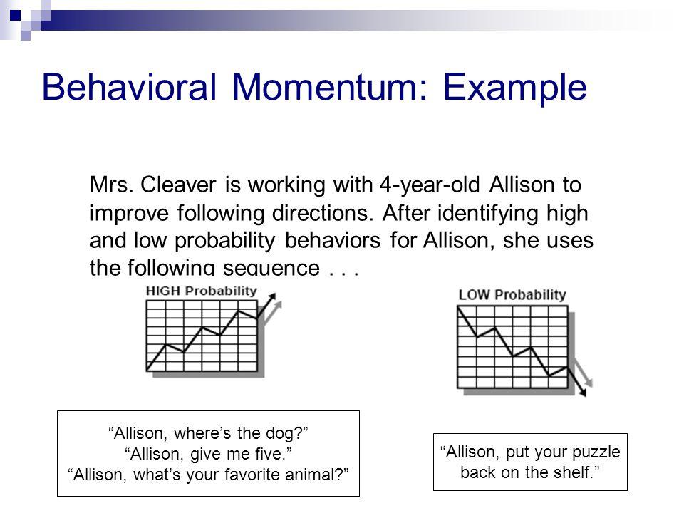Behavioral Momentum: Example