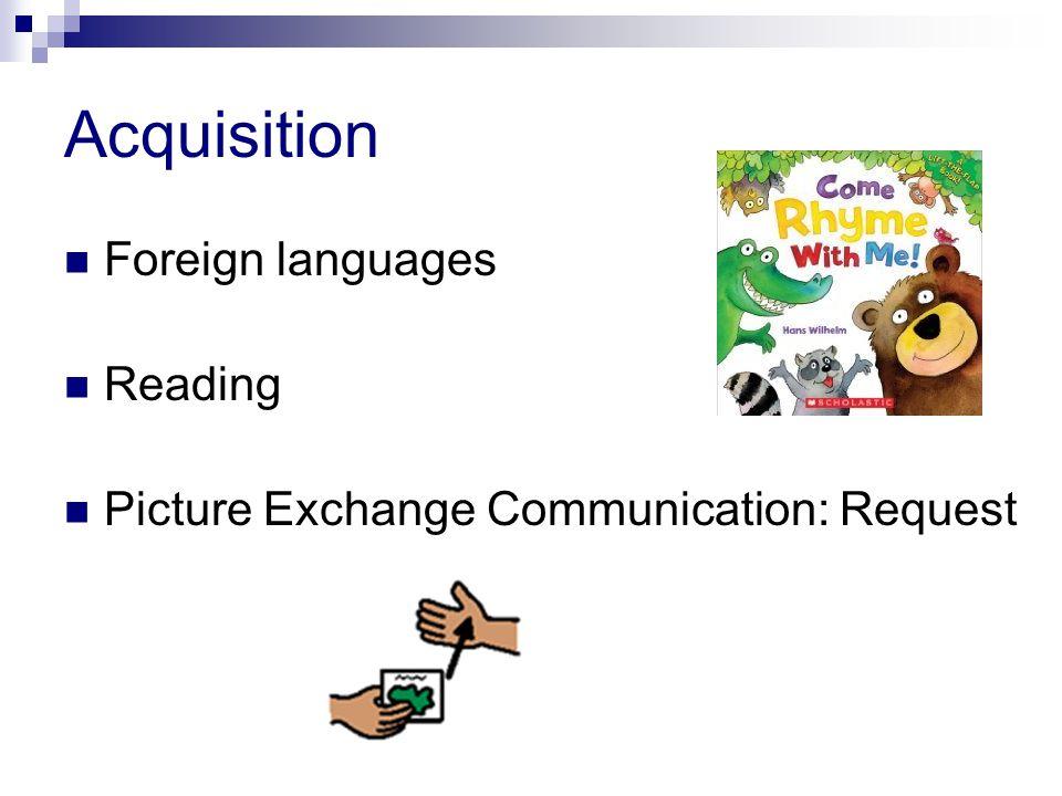 Acquisition Foreign languages Reading