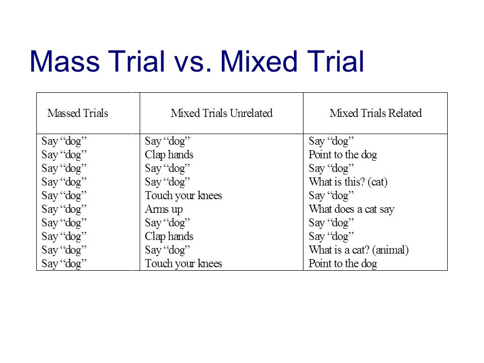 Mass Trial vs. Mixed Trial