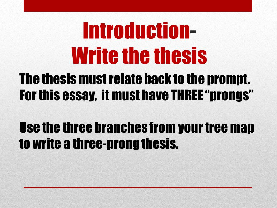 Introduction- Write the thesis