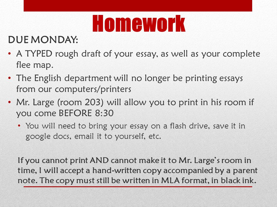 left for dead expository essay ppt homework due monday a typed rough draft of your essay as well as your