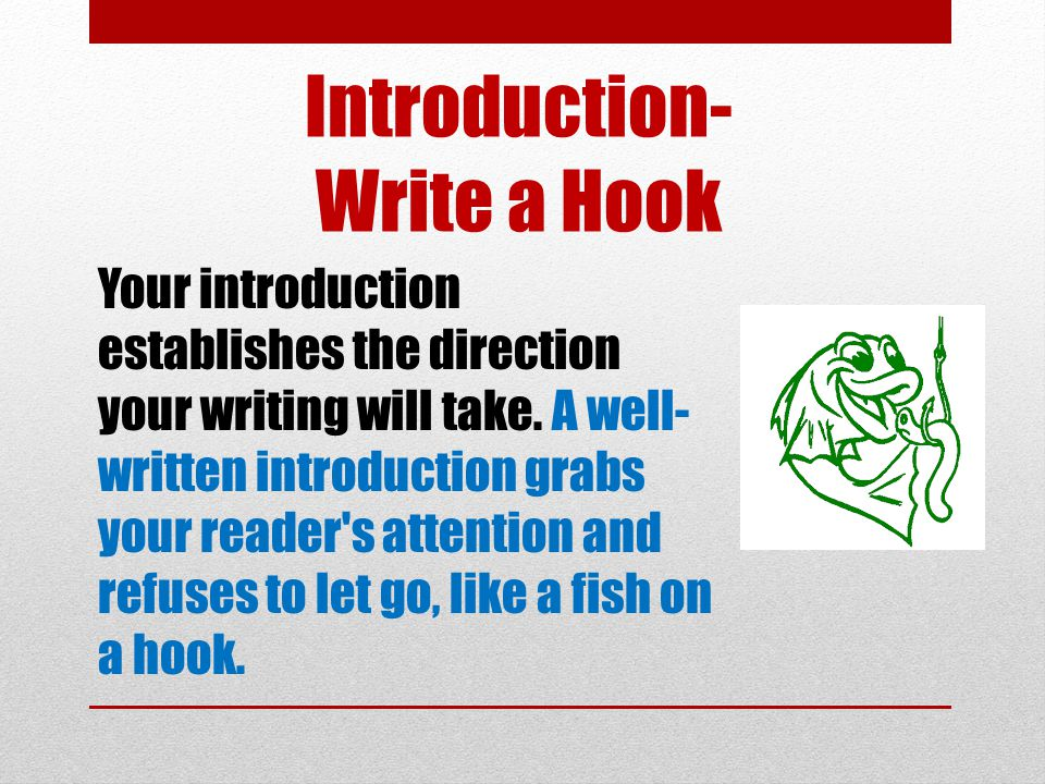 Introduction- Write a Hook
