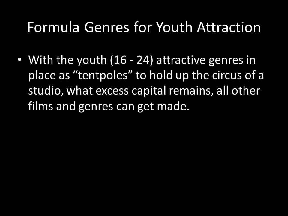 Formula Genres for Youth Attraction