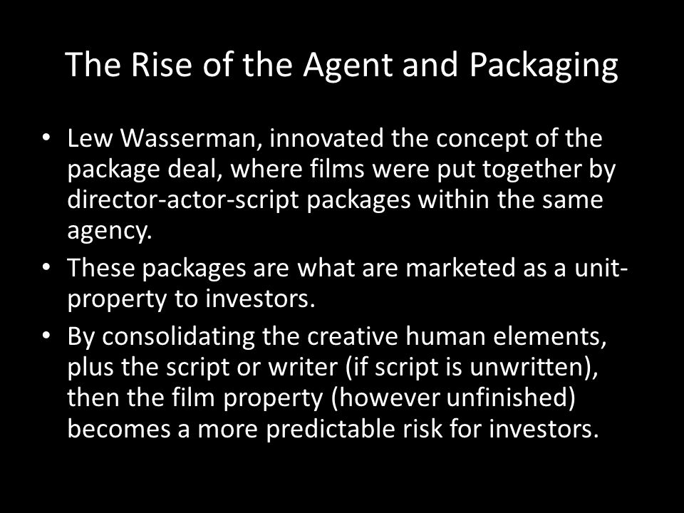 The Rise of the Agent and Packaging