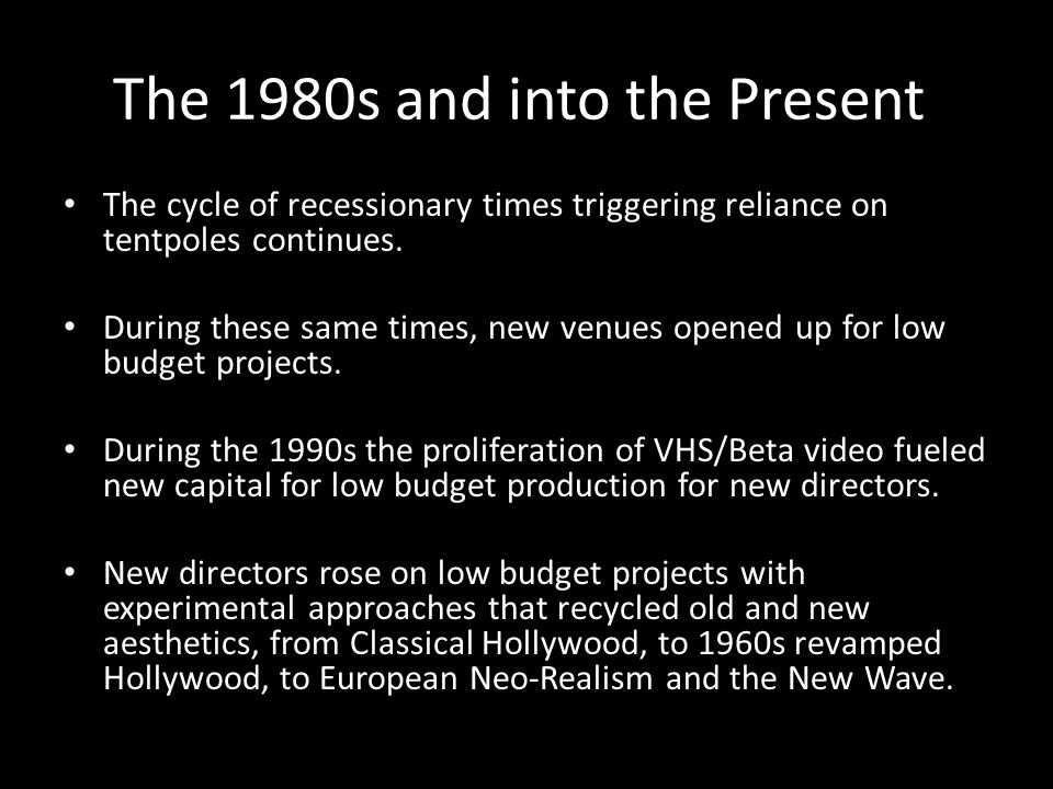 The 1980s and into the Present