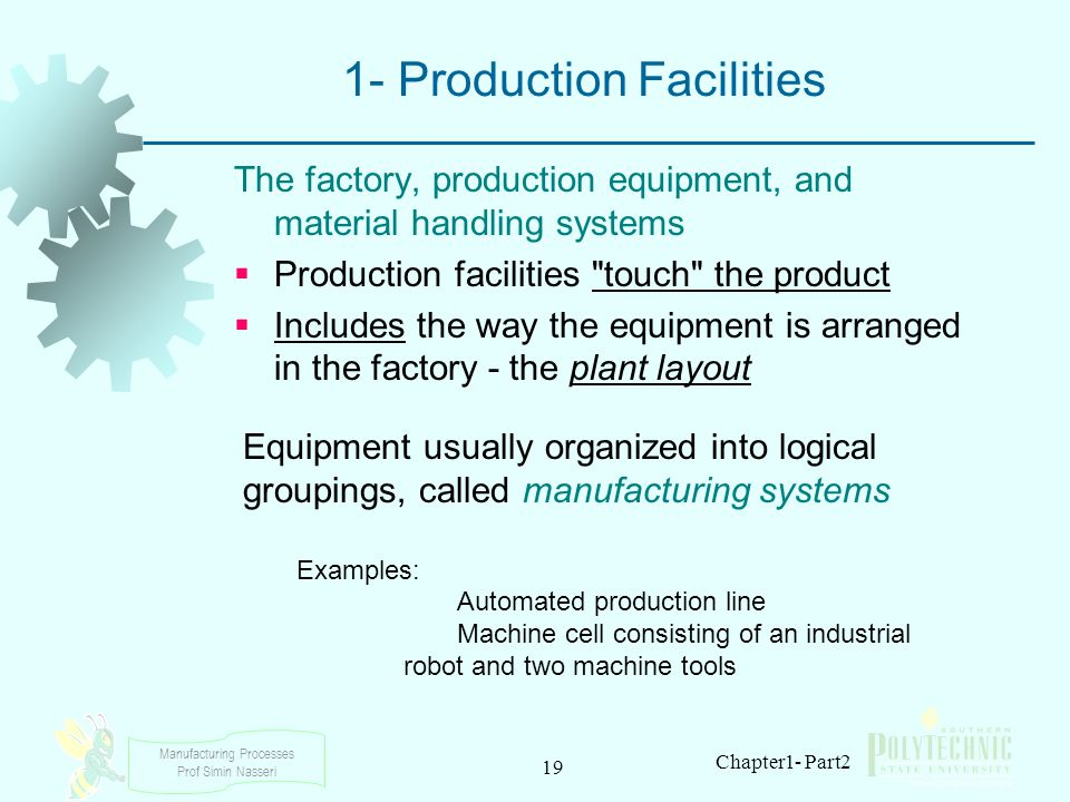 1- Production Facilities