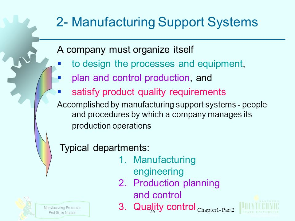 2- Manufacturing Support Systems