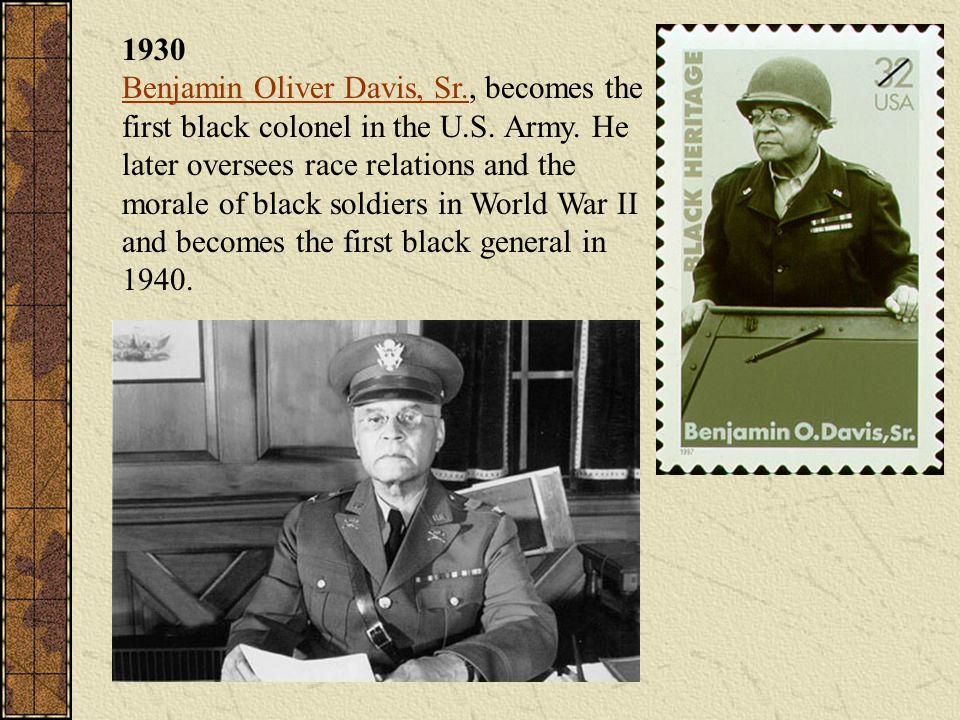 1930 Benjamin Oliver Davis, Sr