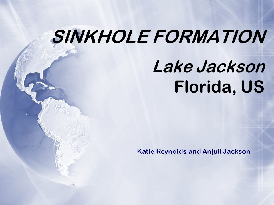 SINKHOLE FORMATION Lake Jackson Florida, US