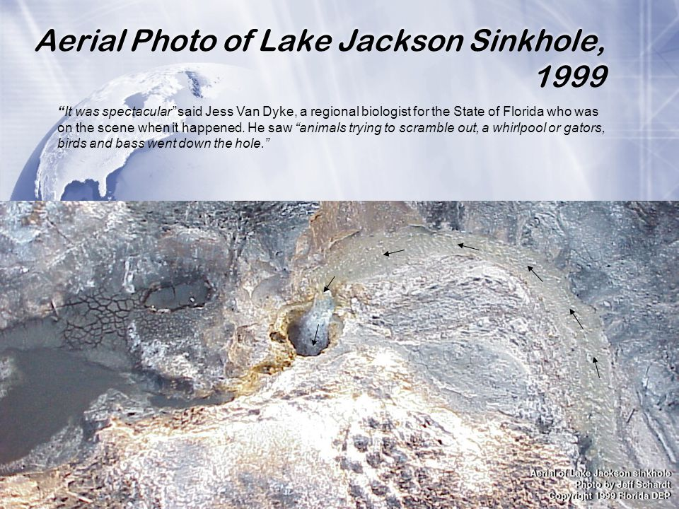 Aerial Photo of Lake Jackson Sinkhole, 1999