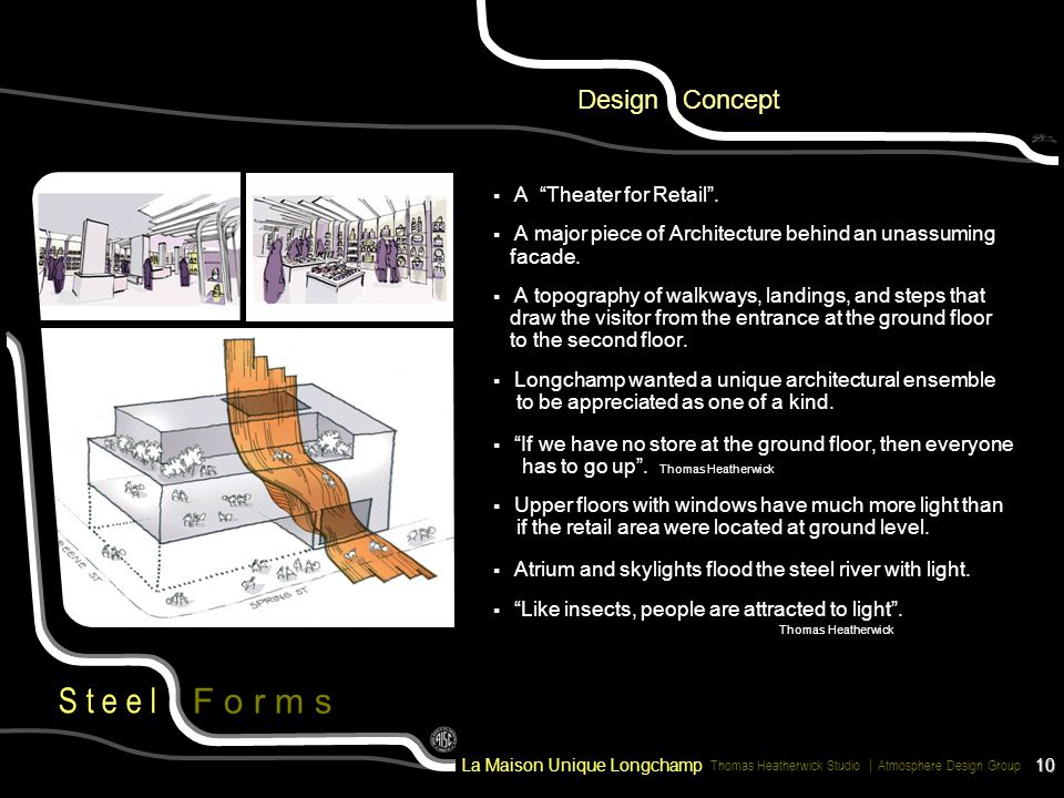 Design Concept A Theater for Retail .