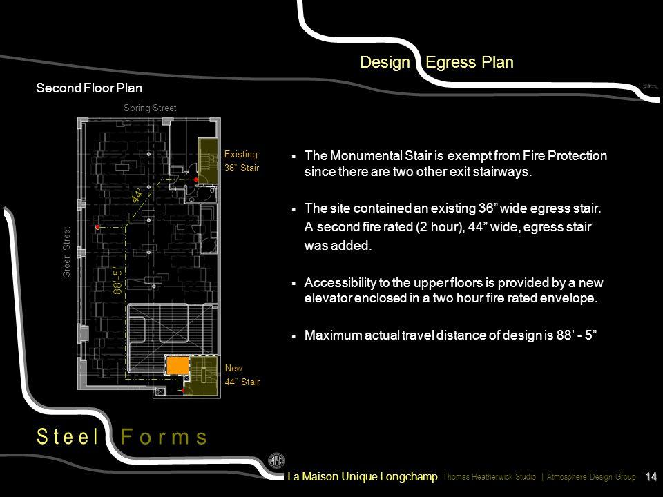 Design Egress Plan Second Floor Plan