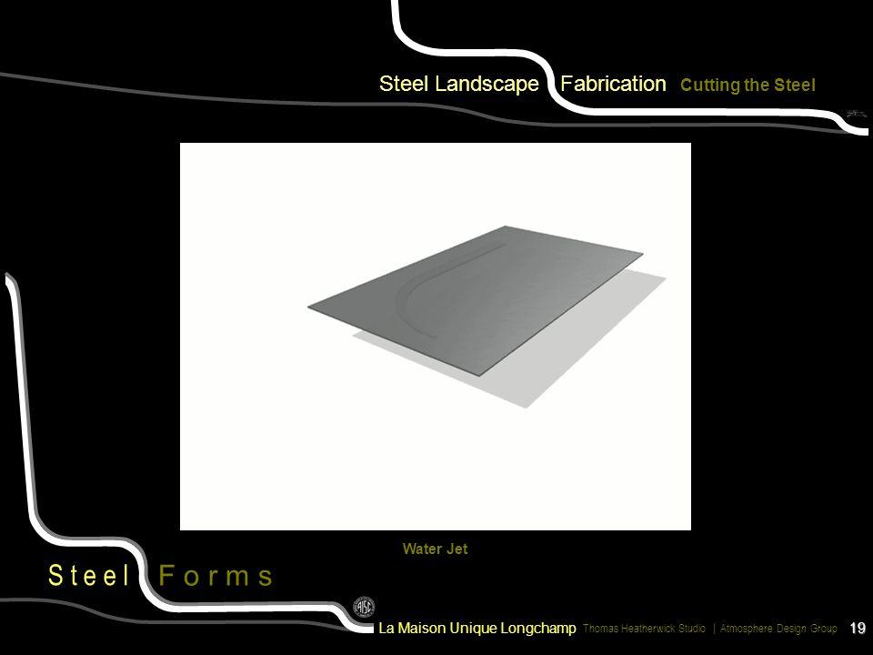 Steel Landscape Fabrication Cutting the Steel