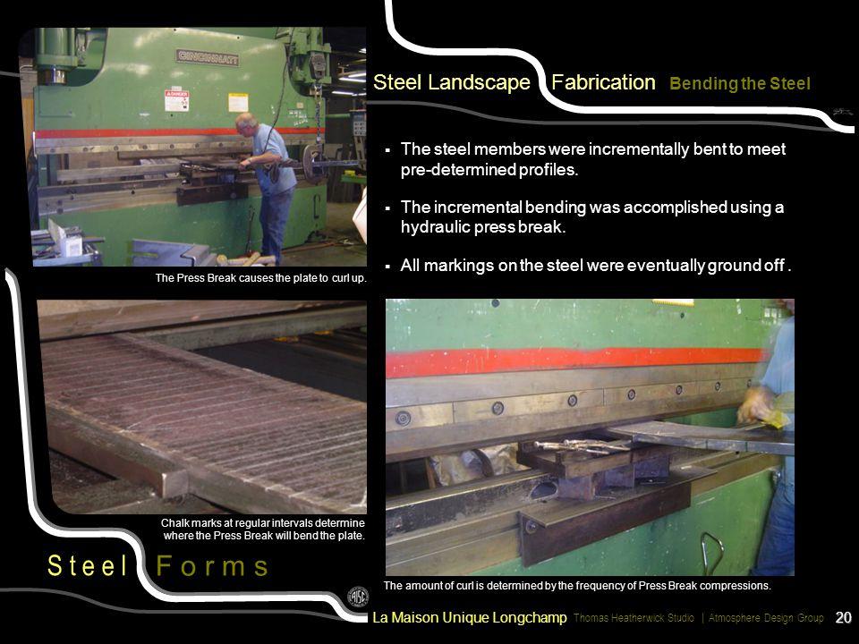 Steel Landscape Fabrication Bending the Steel