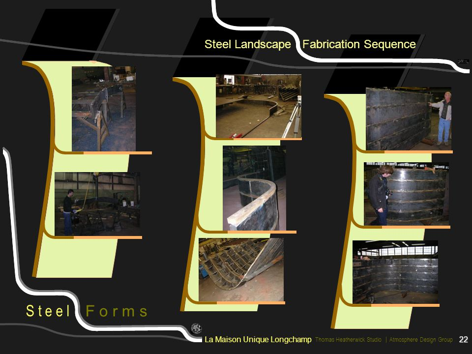 Steel Landscape Fabrication Sequence