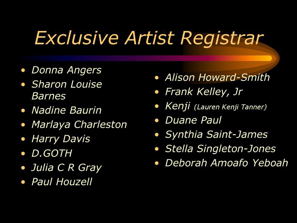 Exclusive Artist Registrar