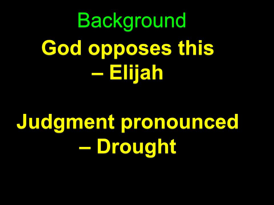 Judgment pronounced – Drought