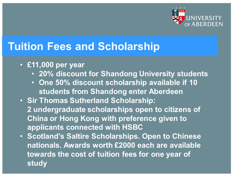 Tuition Fees and Scholarship
