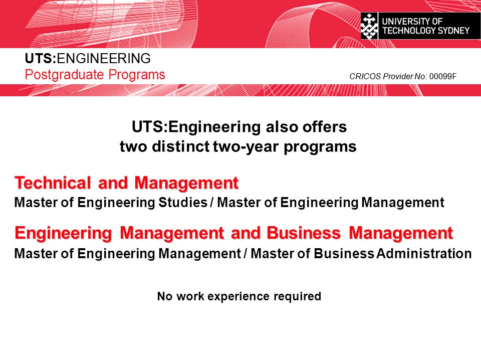 Technical and Management