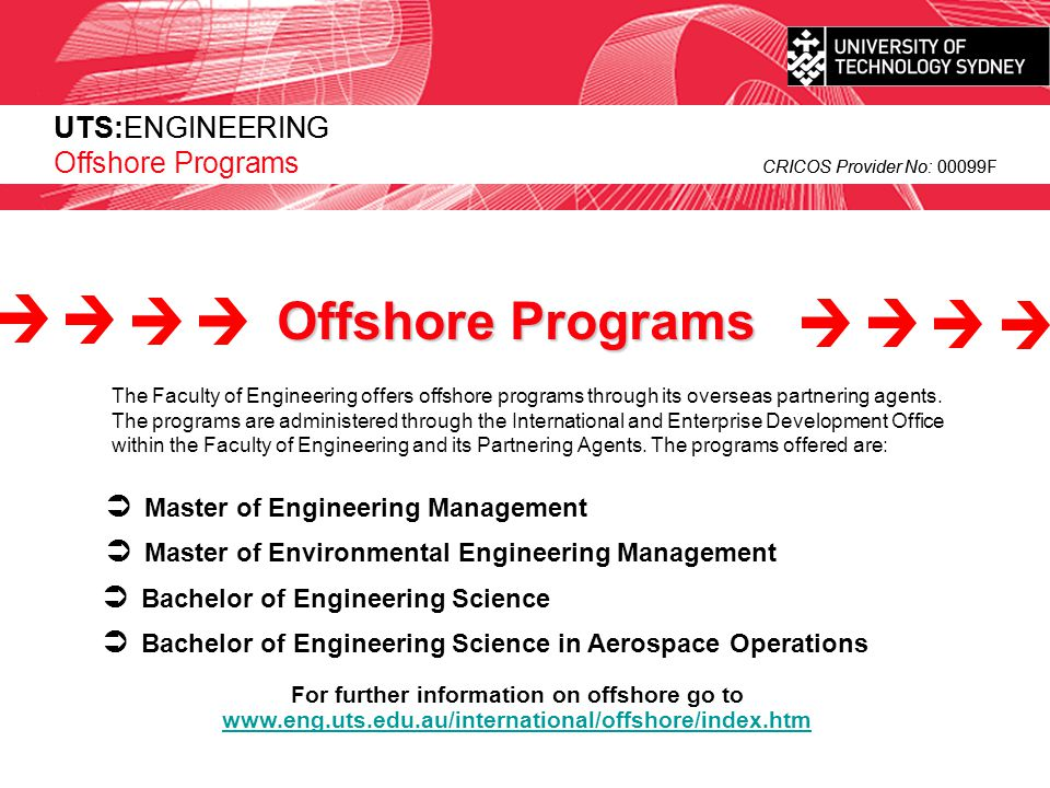For further information on offshore go to