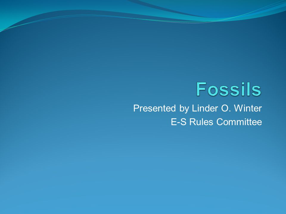 Presented by Linder O. Winter E-S Rules Committee