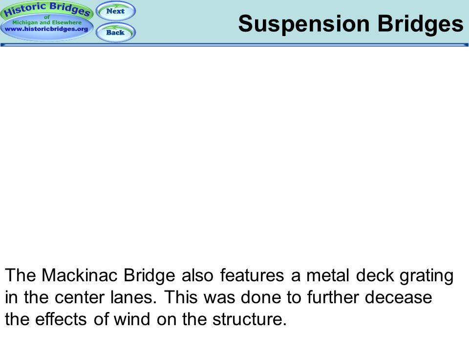 Suspension Bridges – Metal Grate