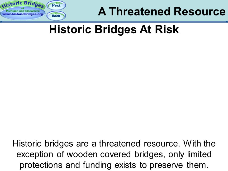 Historic Bridges At Risk