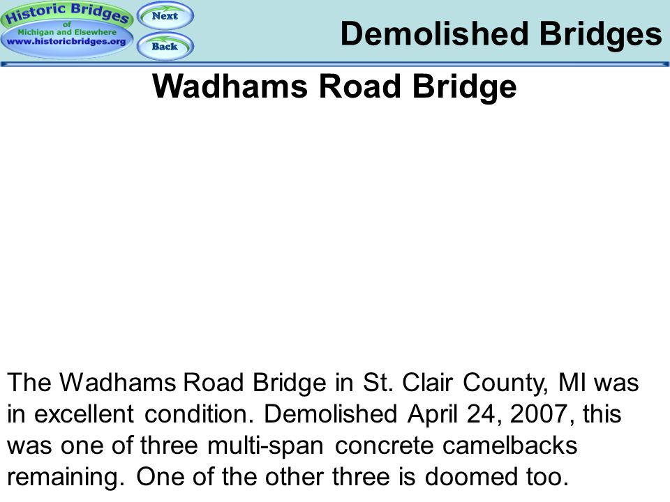 Demolished – Wadhams Road