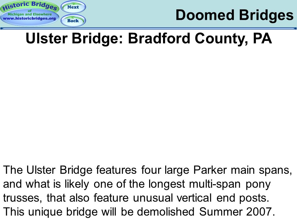 Ulster Bridge: Bradford County, PA
