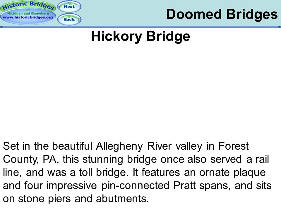 Demolished – Hickory Doomed Bridges Hickory Bridge