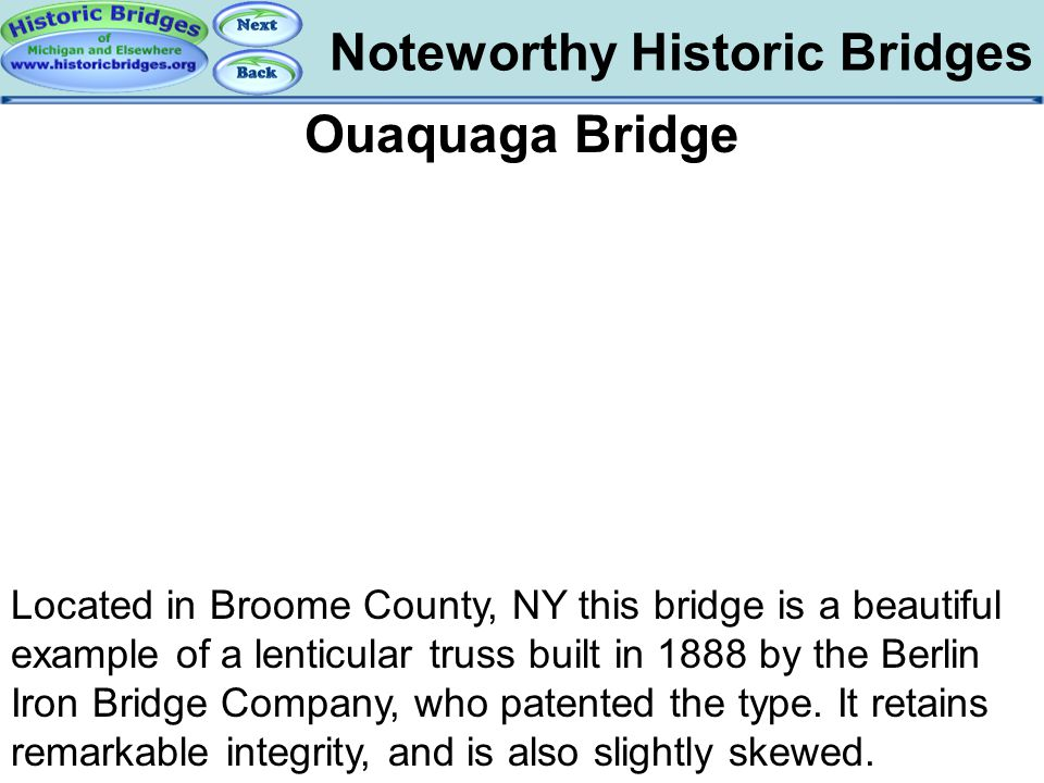 Bridges - Ouaquaga Noteworthy Historic Bridges Ouaquaga Bridge