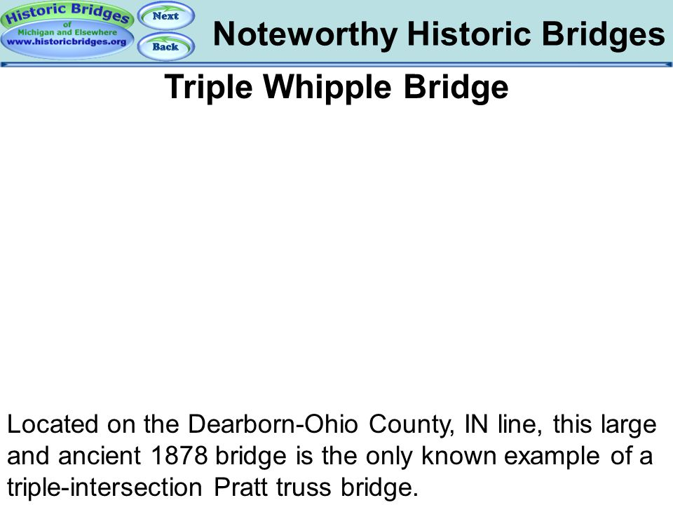Bridges – Triple Whipple Bridge