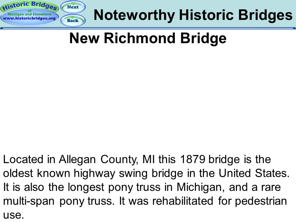 Bridges – New Richmond Bridge