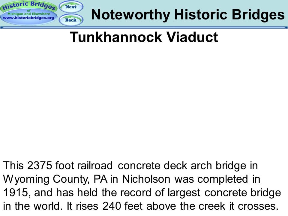 Bridges – Tunkhannock Noteworthy Historic Bridges Tunkhannock Viaduct