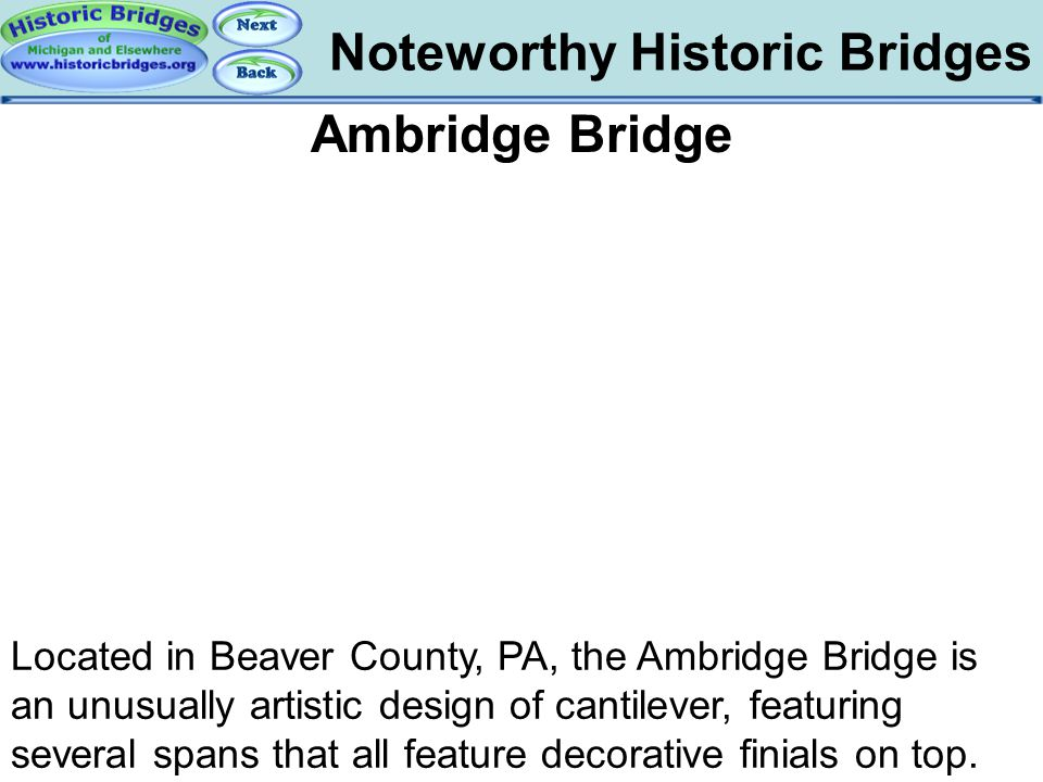 Bridges – Ambridge Noteworthy Historic Bridges Ambridge Bridge