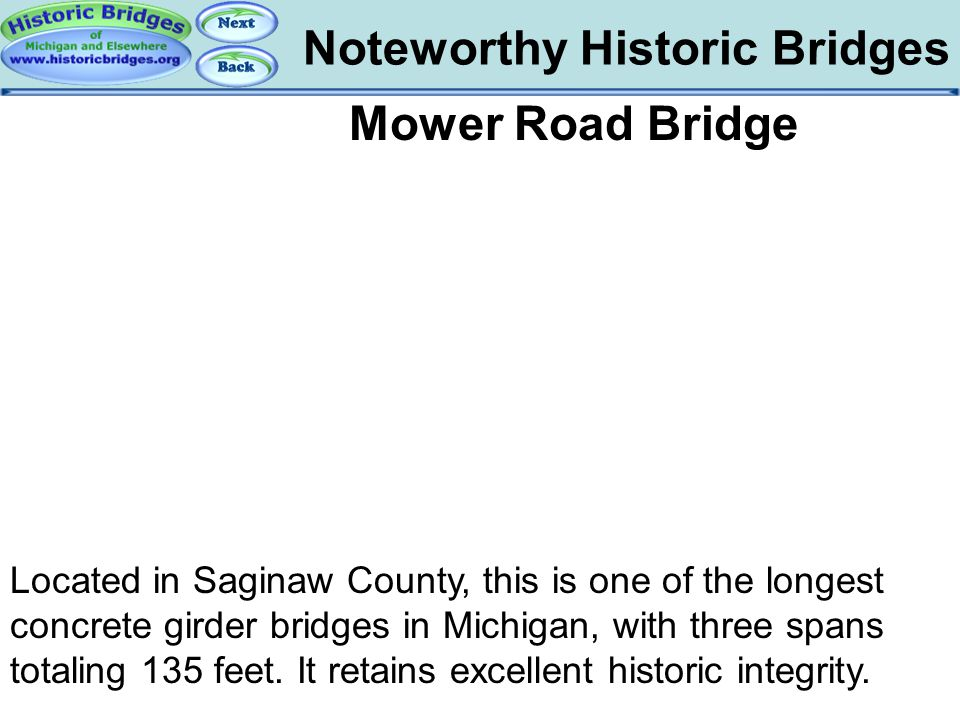 Bridges – Mower Noteworthy Historic Bridges Mower Road Bridge