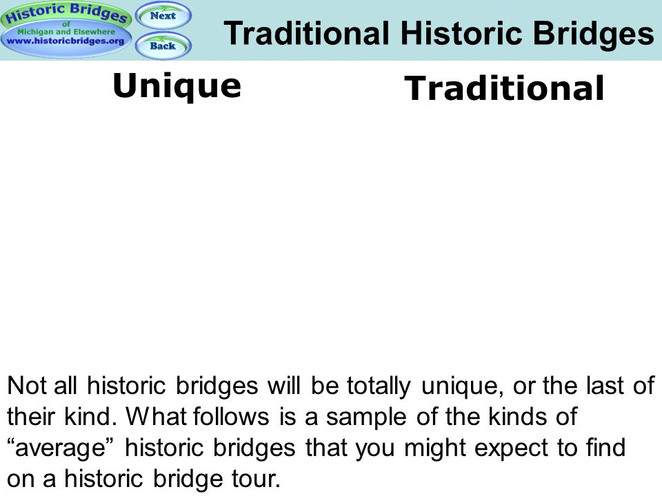 Traditional Historic Bridges