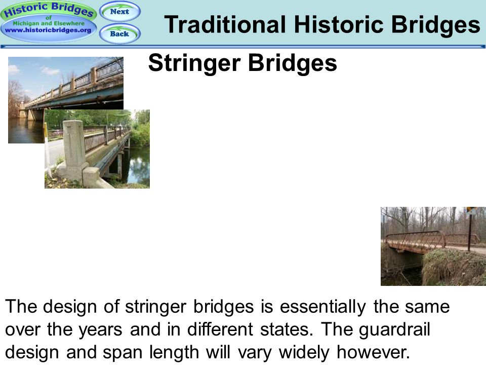 Traditional – Stringer Bridges