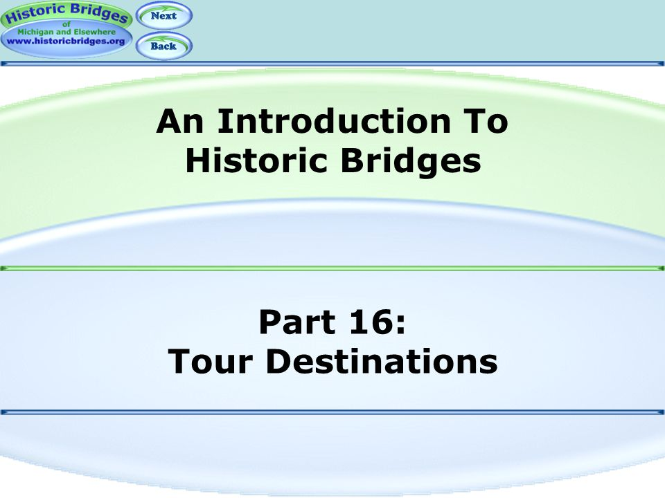 Part 16: Tour Destinations