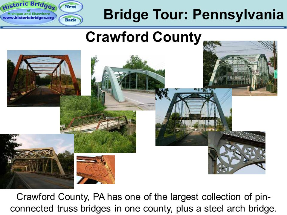 Tour: PA: Crawford County