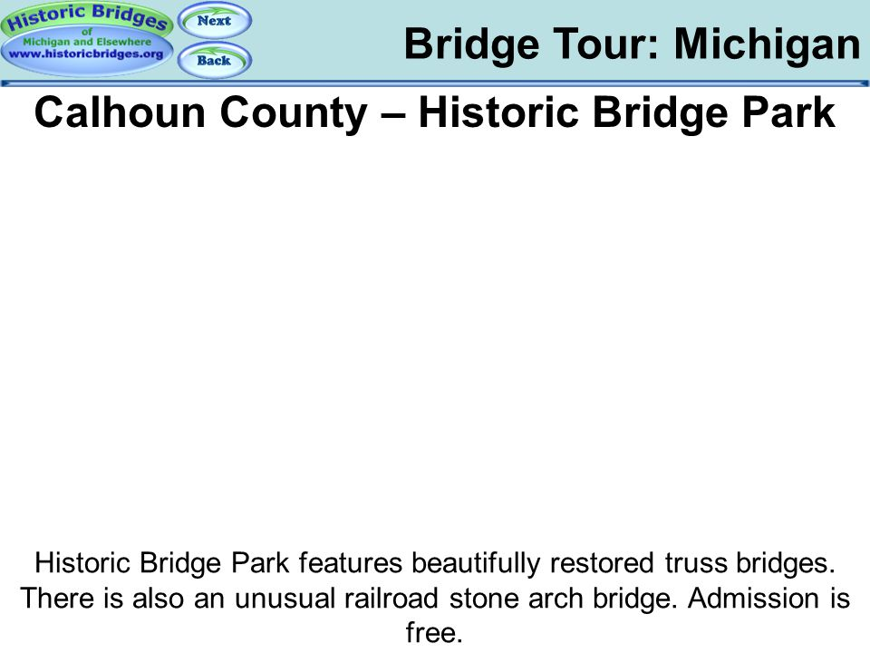 Tour: MI: Historic Bridge Park