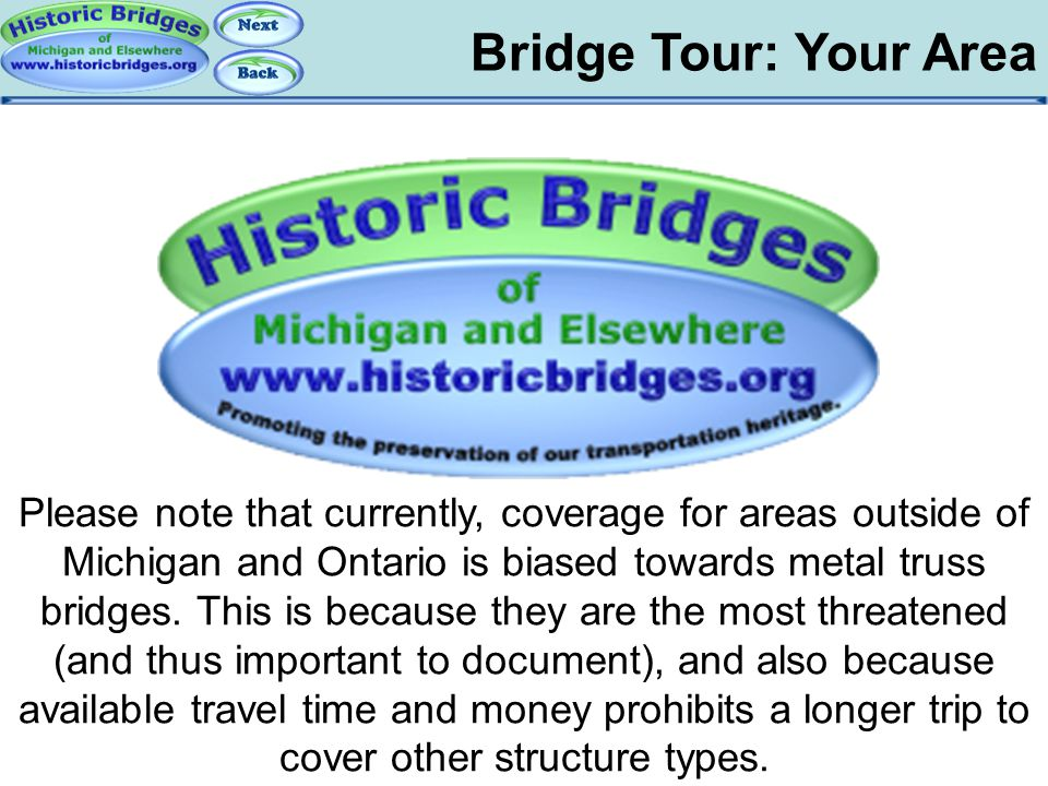 Tour: Your Area Bridge Tour: Your Area