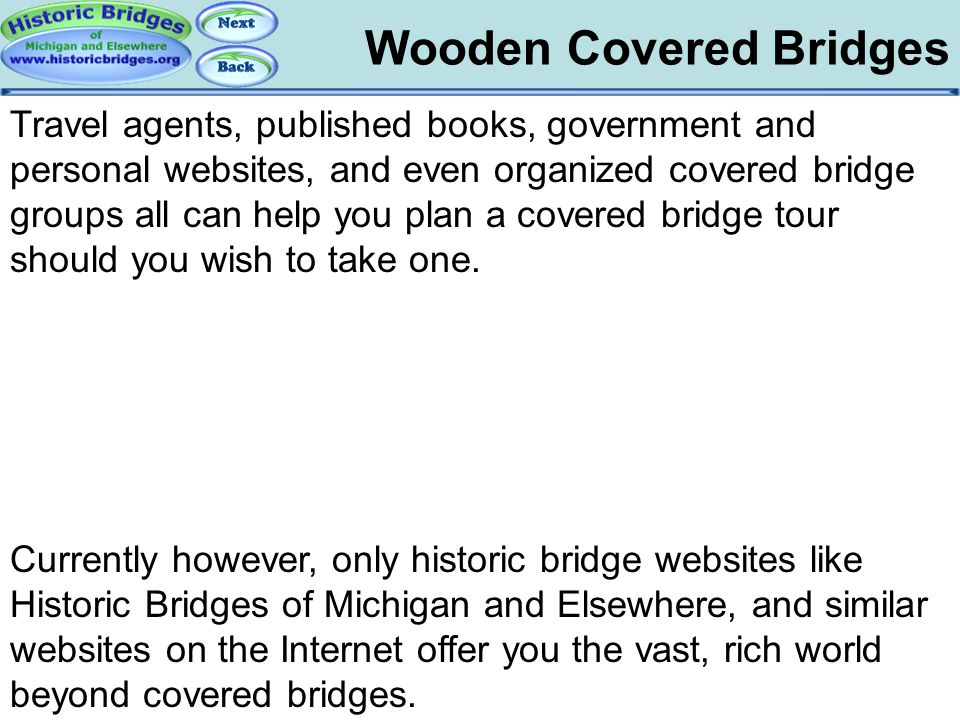 Tour: Covered Bridges Wooden Covered Bridges