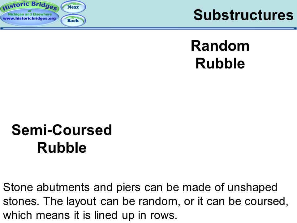 Substructures – Rubble