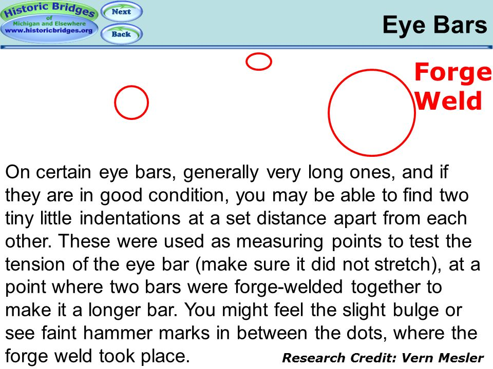 Iron and Steel – Eye Bars: Forge Welds
